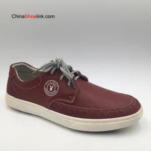 Wholesale High Quality Man Genuine Leather Sneakers Shoes