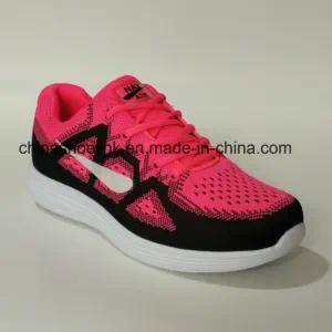 Fashion Ladies′ Sneakers Running Sports Shoes in Pink Color