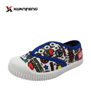 Colorful Boy′s Injection Printing Canvas Shoes