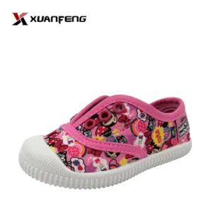 Colorful Children′s Injection Printing Canvas Shoes