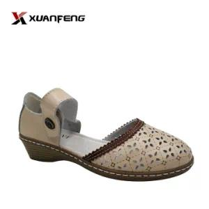 2020 Wholesale Hot Sale Summer Anti-Slip Lady′s Leather Sandals