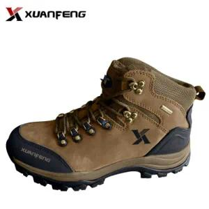 New Top Quality Men′s Cow Leather Outdoor Trekking Hiking Shoes