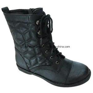 China Women Winter Ankle Boots Supplier PU Leather