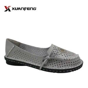 Popular Summer Grils Casual Leather Shoe